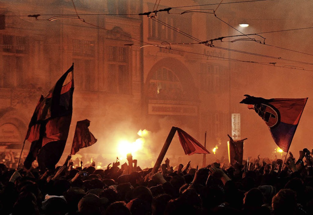 Die Basler Innenstadt als  Partyzone  | Foto: Meinrad Schön