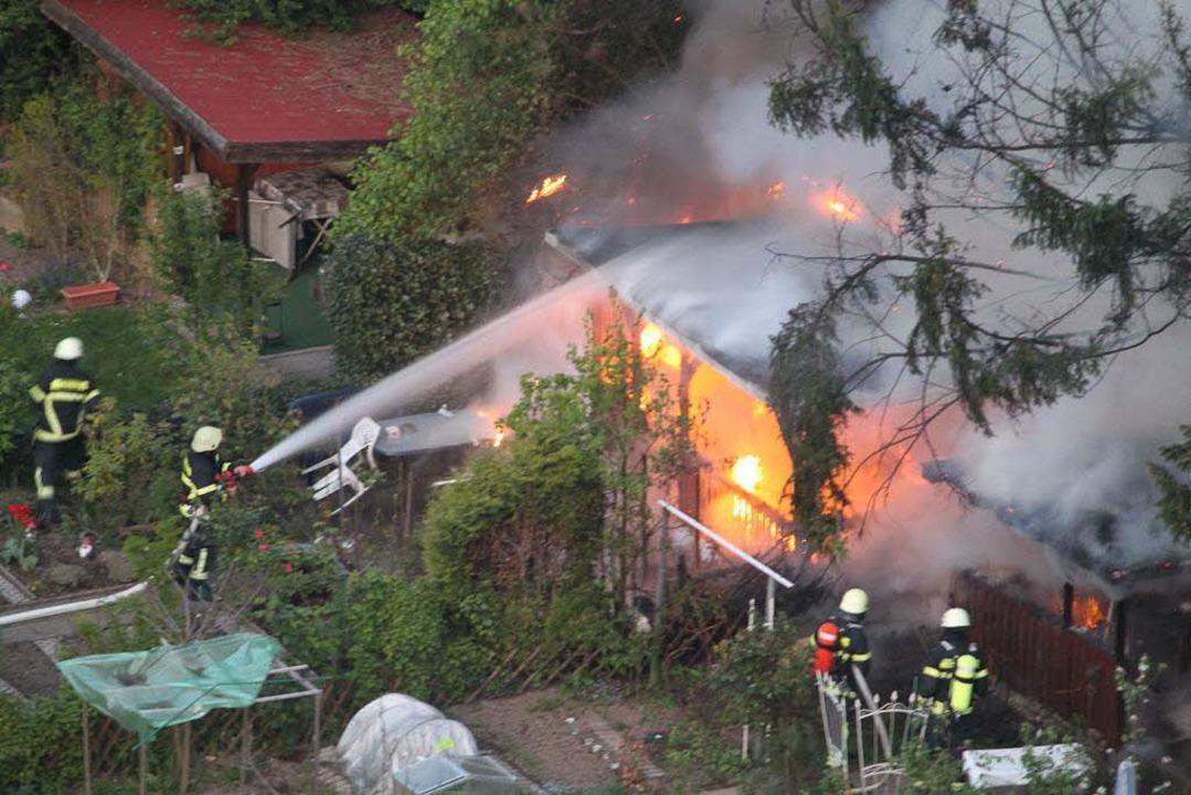 Die Feuerwehr konnte den Brand löschen.    Foto: Bernhard Schindele