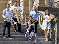 Ein Bläserquintett der Musikhochschule Freiburg spielt im Kulturhaus Denzlingen