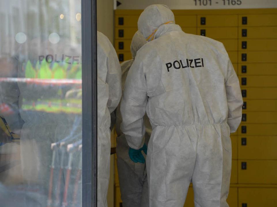 Die Spurensicherung am Tatort  | Foto: dpa