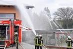 Fotos: Großraumübung der Feuerwehren in Brauerei Rothaus 2017