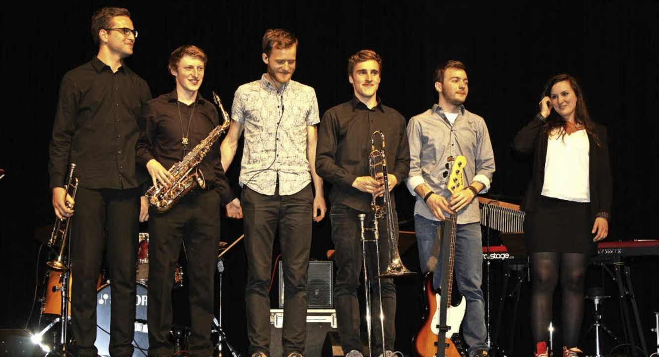Die Jazzcombo mit Malte Ketschull, Joh... Jakob, Tilman Fehse und Laura Bollack  | Foto: Hildegard Karig