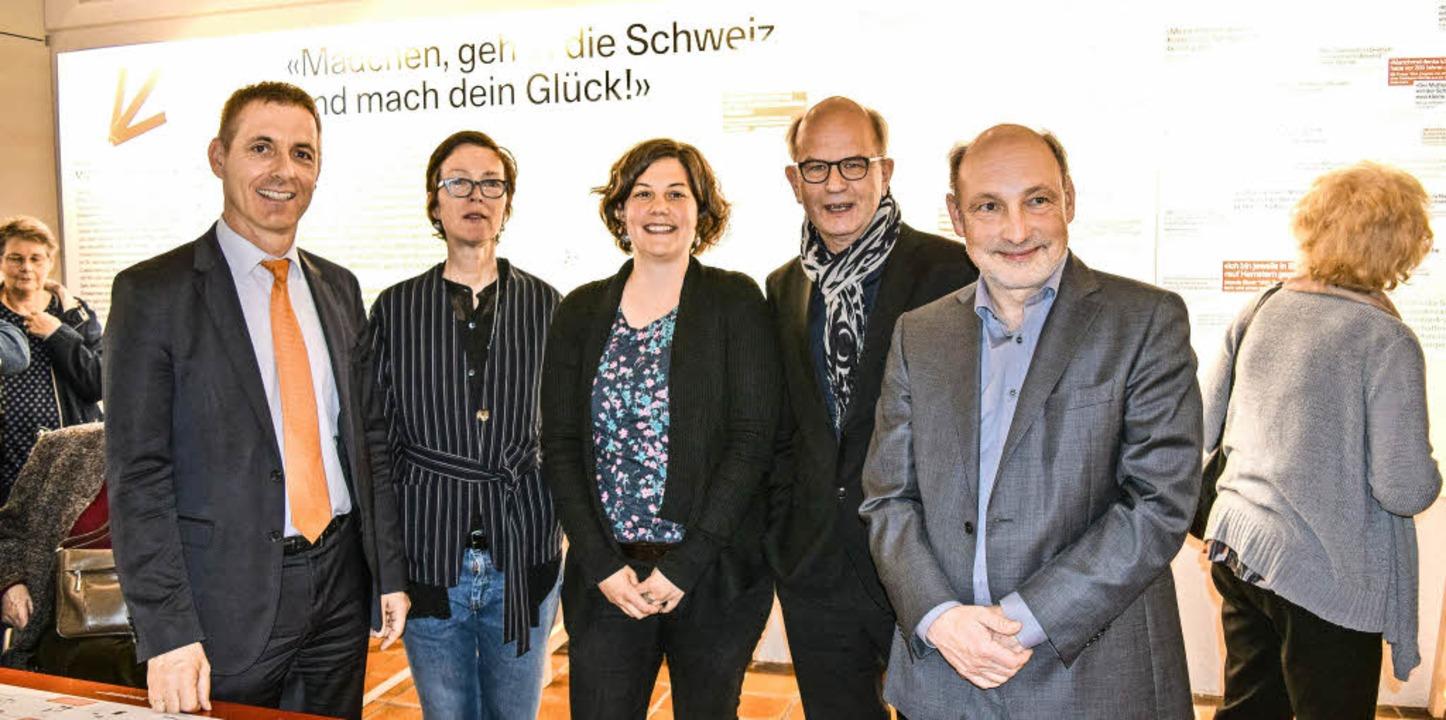 Bei der Ausstellungseröffnung: der Lör...es Dreiländermuseums, Markus Moehring   | Foto: Sandra Raith