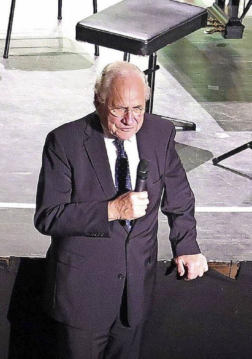 Klaus Lauer, seit über 40 Jahren Spiritus Rector der Musiktage in Badenweiler   | Foto: Dorothee Philipp