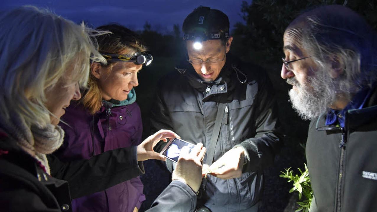 Im Licht Stefan Kaisers Stirnlampe läs...osch mit dem Handy gut fotografieren.   | Foto: Martin Eckert