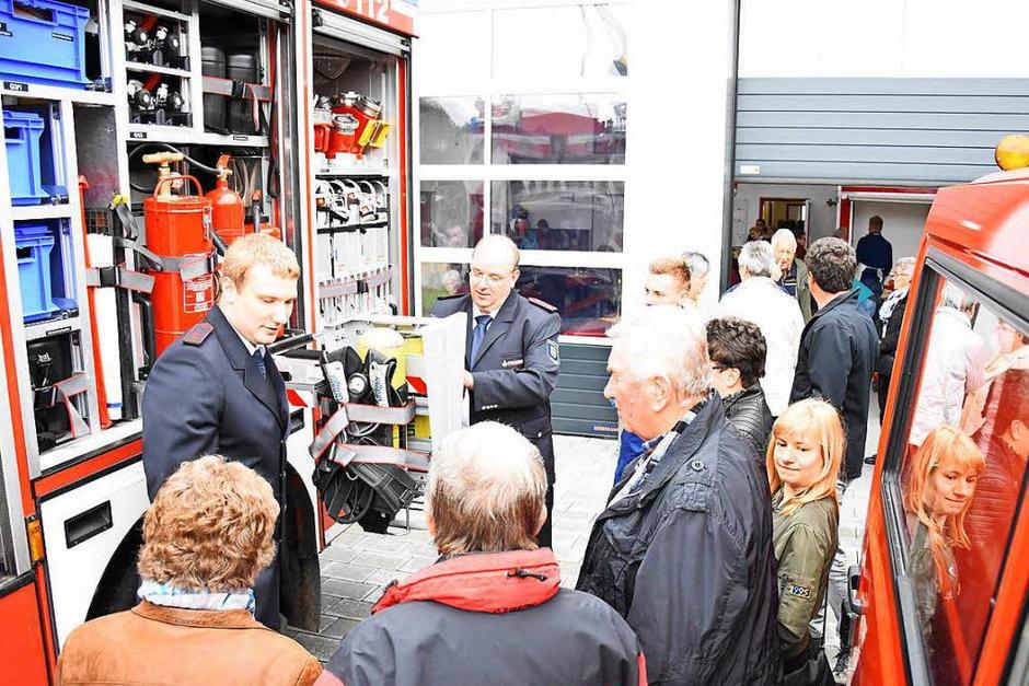 Mit einem Festwochenende wurde das neue Feuerwehrhaus in Pfaffenweiler gefeiert. (Foto: Jonas Hirt)
