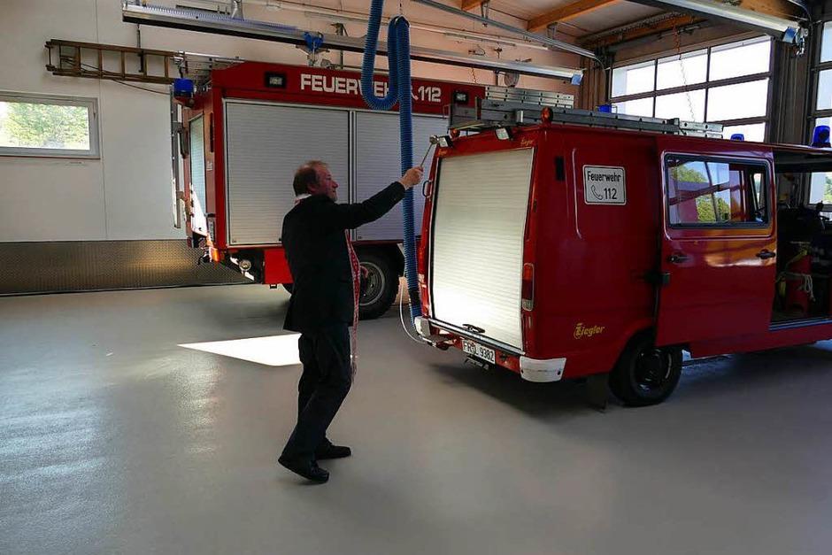 Mit einem Festwochenende wurde das neue Feuerwehrhaus in Pfaffenweiler gefeiert. (Foto: Nikola Vogt)