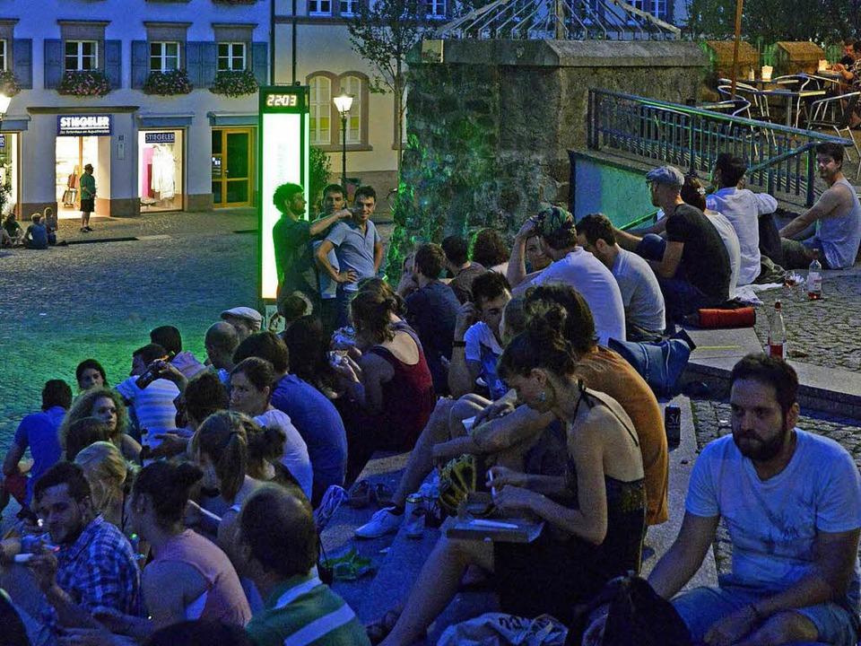 Wie laut ist es am Augustinerplatz nac...Ein Lärmgutachten soll das nun klären.  | Foto: Michael Bamberger