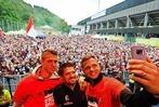 Fotos: Fans bejubeln die Spieler des SC Freiburg