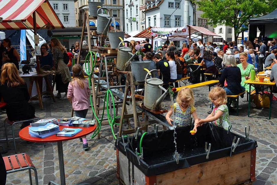 Impressionen vom Eco-Festival in Basel (Foto: Britta Wieschenkämper)