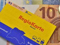 Die Regiokarte wird um zwei Euro teurer