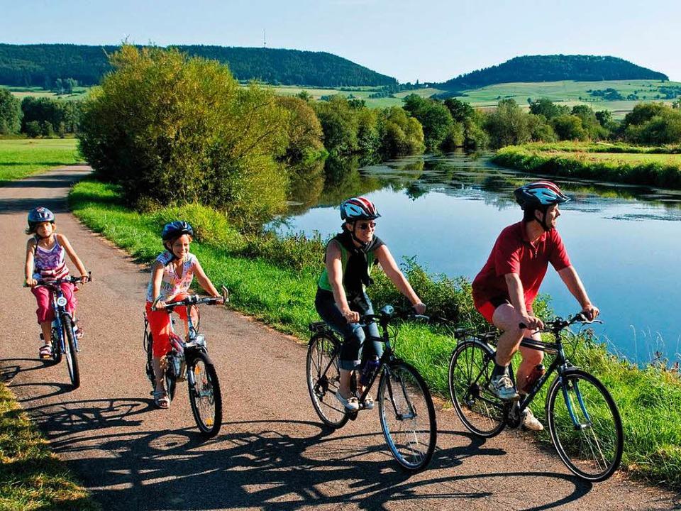 Radfahren kann vor Krebs schützen.    Foto: dpa-tmn
