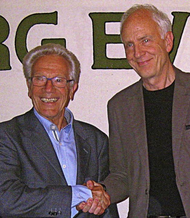 Der scheidende PTSV-Präsident Robert S...) und sein Nachfolger  Jürgen Bengel.     Foto: privat