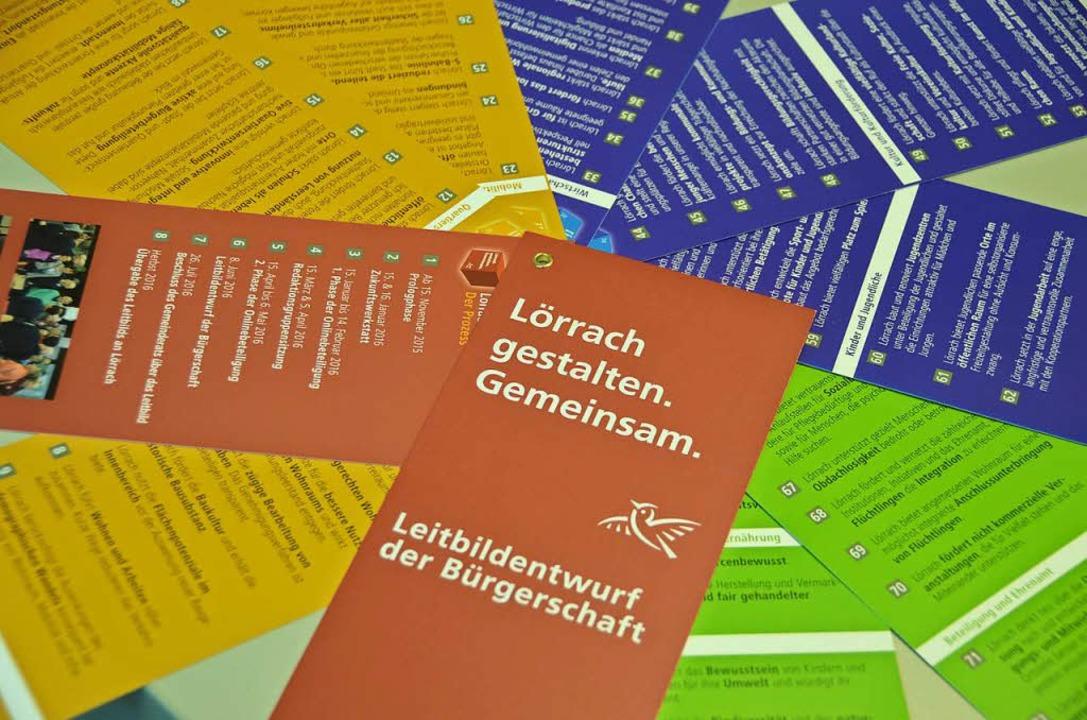 Das Lörracher Leitbild ist jetzt Teil des städtischen Zielemanagements.  | Foto: Sabine Ehrentreich