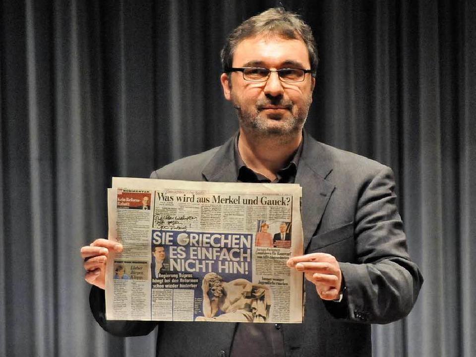 Kabarettist Uwe Spinder tritt am Samst..., im Winzerhof Linder in Endingen auf.  | Foto: Markus Zimmermann