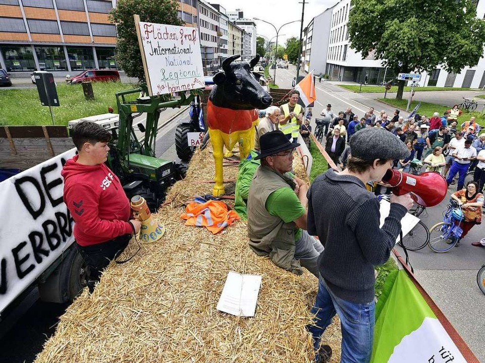 Ihre Kritik: der Flächenverbrauch  | Foto: Thomas Kunz