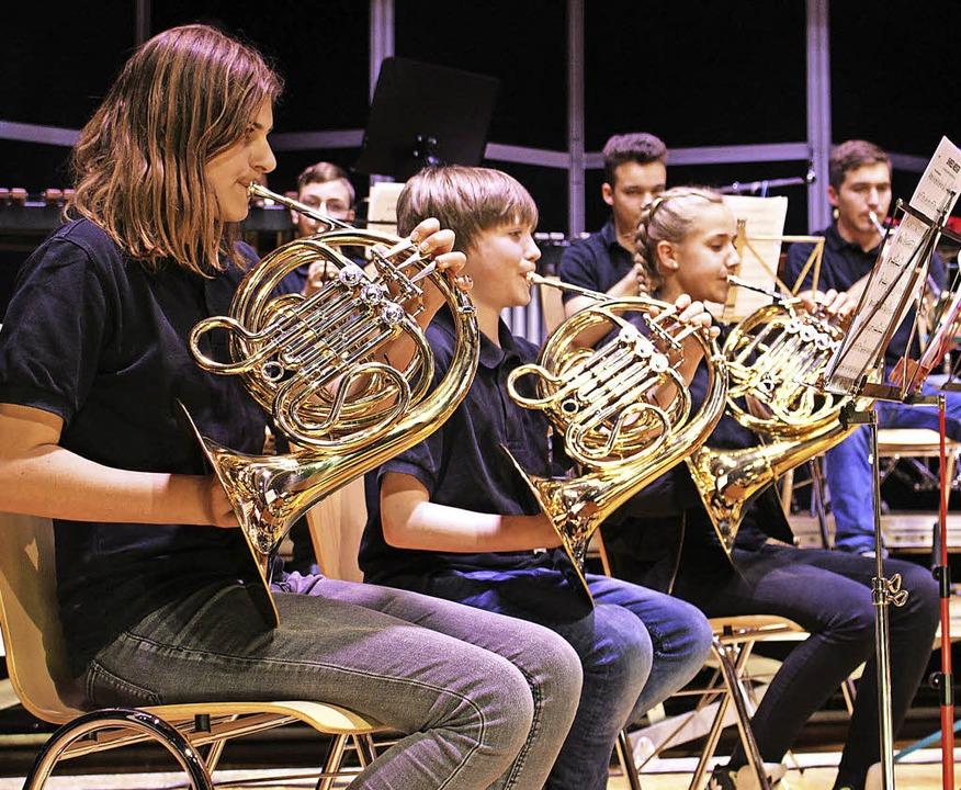 Nicht nur die Instrumente glänzten, so...te sich der jüngste Wehrer Nachwuchs.   | Foto: Hansjörg Bader