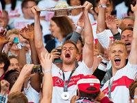 Fotos: So euphorisch feiert der VfB Stuttgart den Bundesligaaufstieg