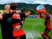 Fotos: SC Freiburg II feiert den Aufstieg in die Regionalliga