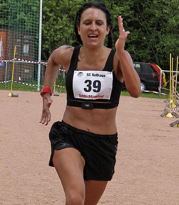 Siegerin im Hauptlauf bei den Damen war Jeannine Piazzalunga.  | Foto: Dorothée Kuhlmann