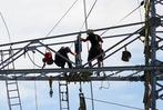 Fotos Stromleitungen über der Wutachschlucht 2017