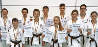 Karateka auf Medaillenjagd