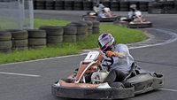 Spannender Kampf auf der Kartbahn