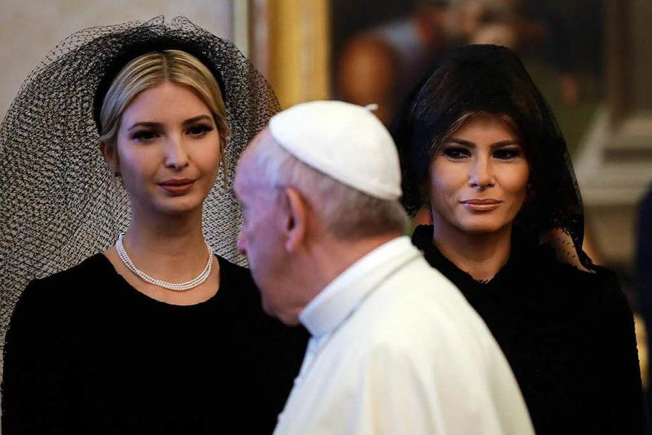 Papst Franziskus hat US-Präsident Donald Trump und seiner Familie am Mittwoch zu einer Privataudienz empfangen. (Foto: dpa)