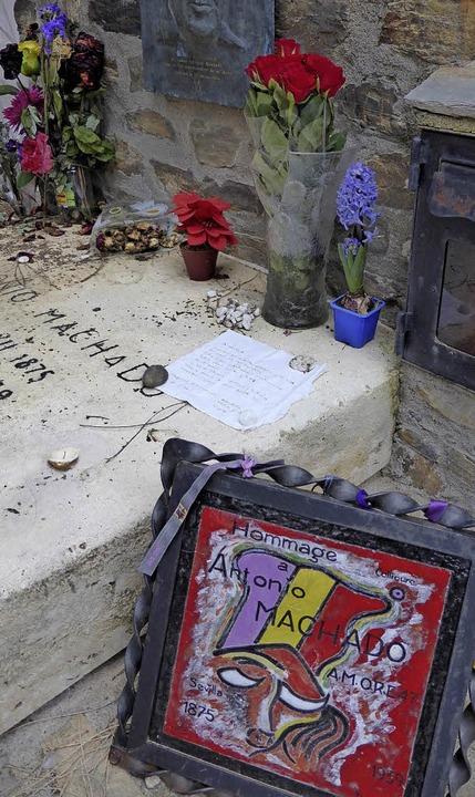 Symbolischer Ort für Exilanten: das Grab von Antonio Machado in Collioure   | Foto: M. Neubauer
