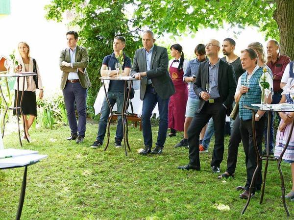 Vor der malerischen Kulisse von Schloss Mahlberg wurde die neue Ausgabe von baden. vorgestellt.