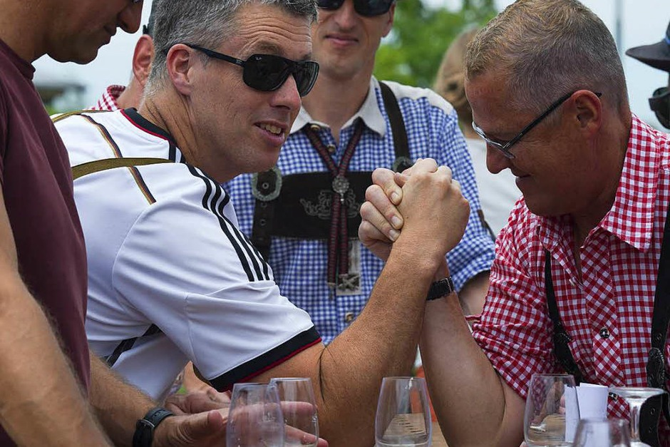 Vermutlich ein neuer Rekord: Rund 30 000 Besucher ließen es sich beim Gutedeltag gut gehen. (Foto: Volker Münch)