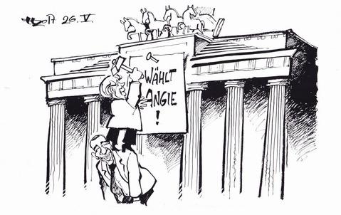 Thesenanschlag am Tor Zeichnung: Haitzinger