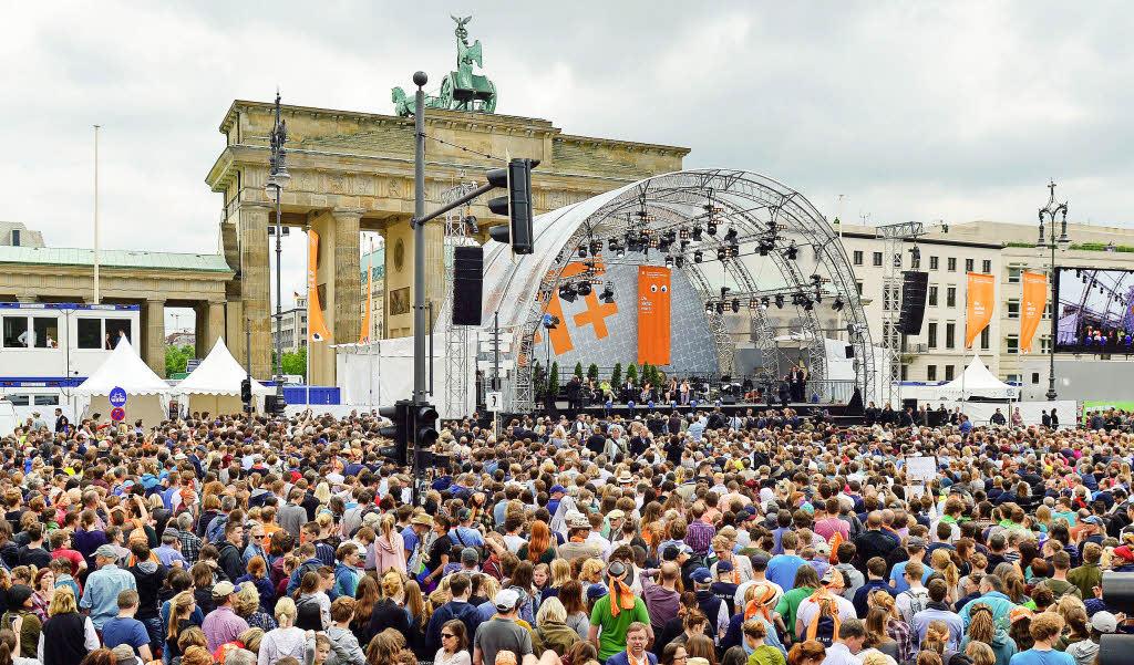 Mehr als 200 Bochumer sind heute nach Berlin aufgebrochen zum Evangelischen
