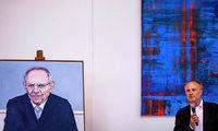 Ortenauer Künstler Werner Schmidt malte ein Porträt von Wolfgang Schäuble