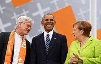 Merkel im Glanz des ehemaligen US-Präsidenten in Berlin