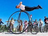 Fotos: Karlsruhe feiert die Erfindung des Laufrads
