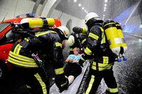 So lief die große Rettungsübung im Hugenwaldtunnel