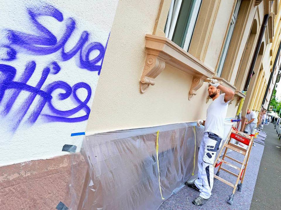 Bei mehreren Aktionstagen in den verga...raffiti im Sedanquartier (Archivbild).  | Foto: Rita Eggstein