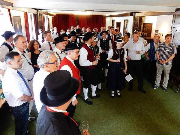 Zum Empfang der Stadt Elzach kamen zahlreiche Gäste.