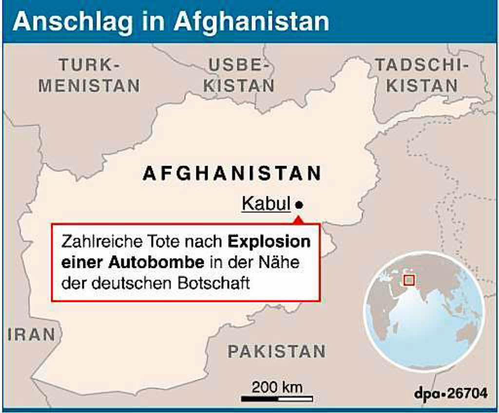 Bedienstete der deutschen Botschaft in Kabul verletzt