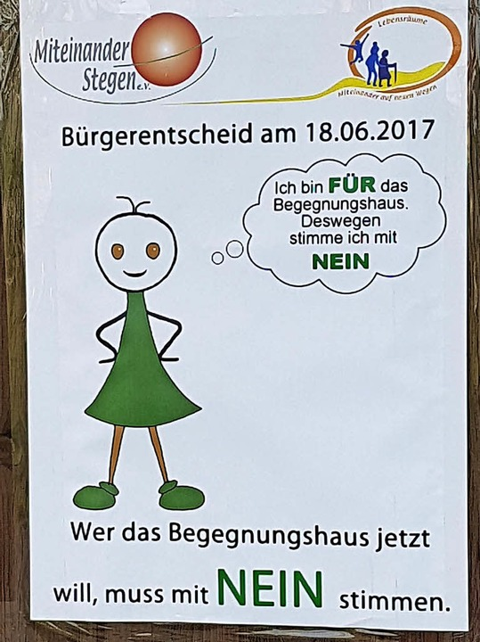 "Befürworter und Kritiker des geplanten... ""Stockacker"" abgestimmt.   | Foto: Andreas Peikert"
