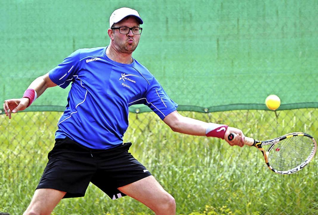<BZ-FotoAnlauf>Tennis:</BZ-FotoAnlauf>... im Finale der Baratti Open in Haagen.    Foto: Schaller