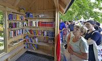 In der Gartenstadt nun wieder ein Büchertauschregal