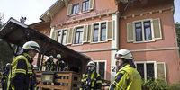 Brand im ehemaligen Hotel