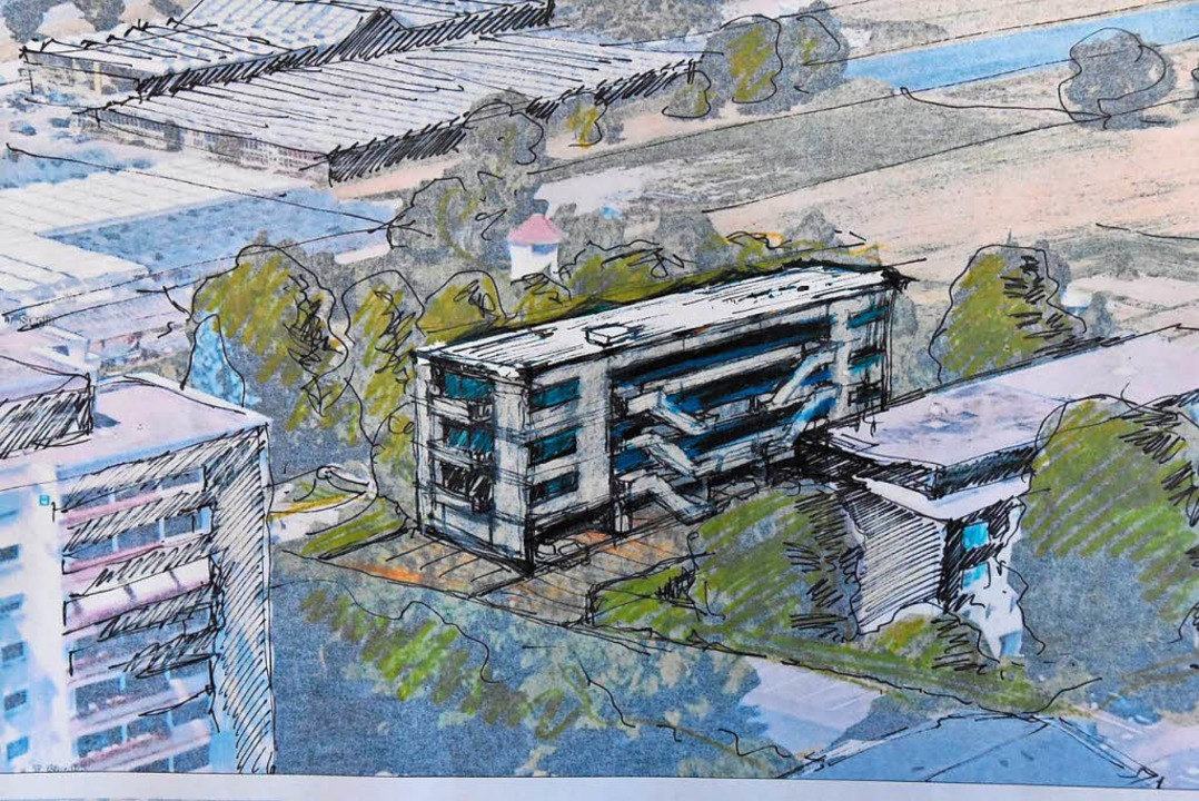 Der Entwurf des Wohngebäudes    Foto: Max schuler