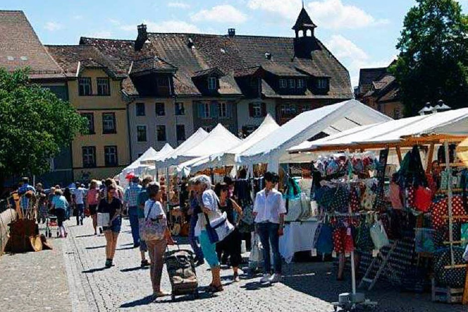 Kunst traf Handwerk in Laufenburg, zudem war verkaufsoffener Sonntag – fotografiert von Maria Schlageter
