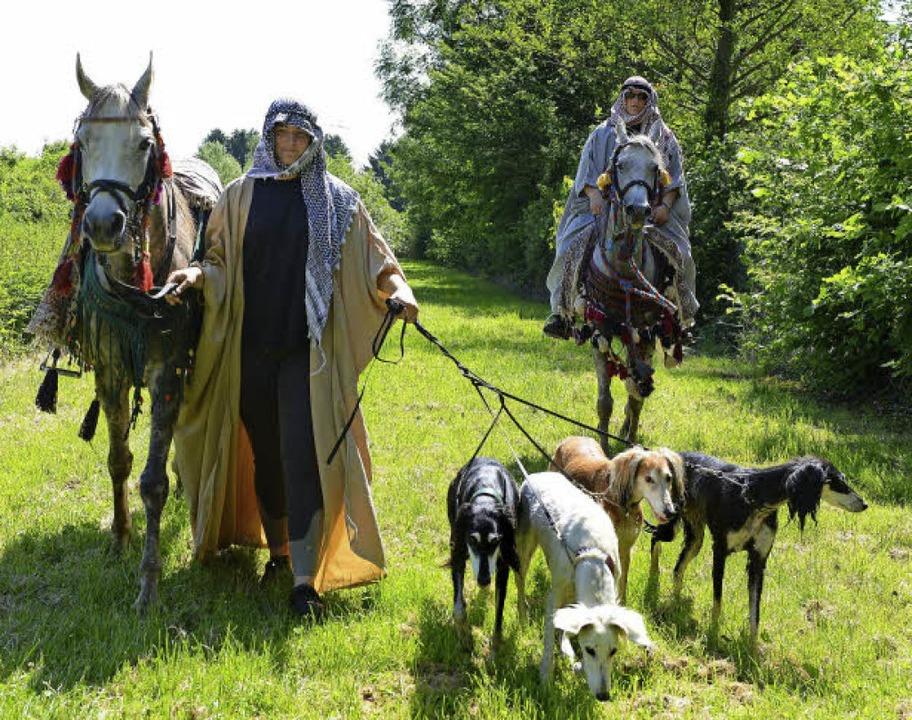 Orientalisches Flair:  Arabische Pferde und  Persische Windhunde  | Foto: Rita Eggstein