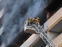 Zwei Tote bei Brand in Hochhaus nahe Karlsruhe