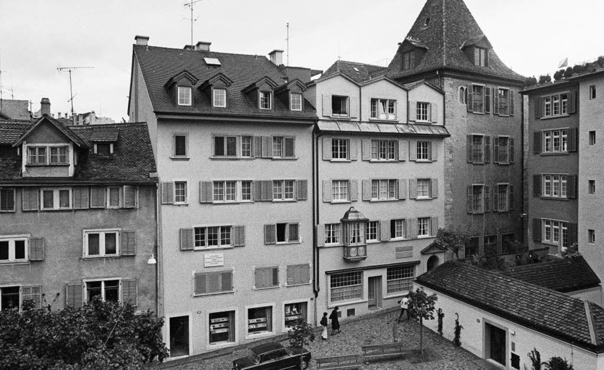 Spiegelgasse Nr. 14 in Zürich (zweites...on 1977): An diesem Ort  wohnte Lenin.  | Foto: dpa/ avkost (fotolia.com)