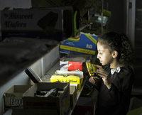 Nach drei Stunden wird es düster in Gaza